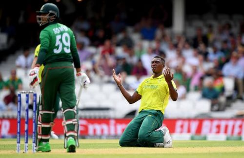 Lungi Ngidi suffered a hamstring injury in the match against Bangladesh