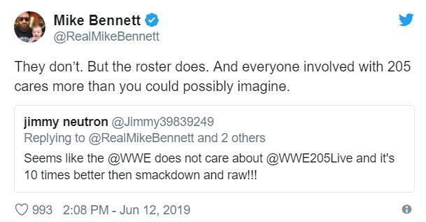 Mike Bennett sure cares about 205 Live