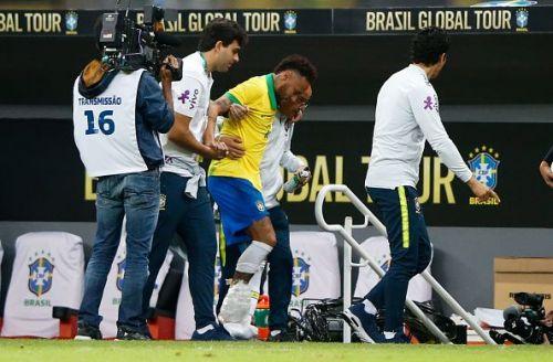 Neymar was taken off after 21 minutes in a friendly against Qatar