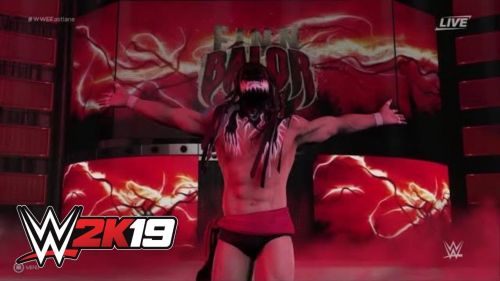 Demon Finn Balor's entrance from WWE 2K19