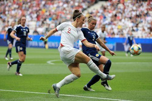 Scotland defender Nicola Docherty conceded a penalty after a VAR-called handball