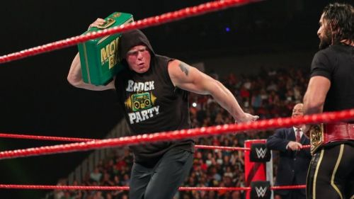 Brock Lesnar is cashing in the WWE Money in the Bank briefcase on WWE RAW