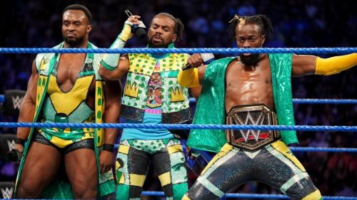 The New Day's return was crashed by Kevin Owens, Sami Zayn and Dolph Ziggler
