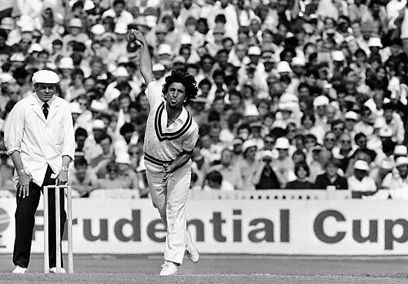 Abdul Qadir flights one in the 1983 World Cup.