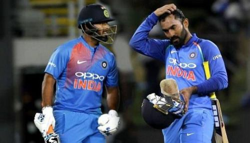 Rishabh Pant and Dinesh Karthik might feature in the playing XI for India