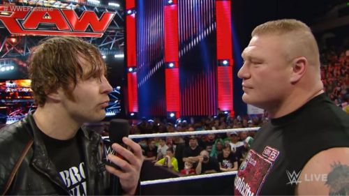Dean Ambrose vs. Brock Lesnar did not live up to the hype