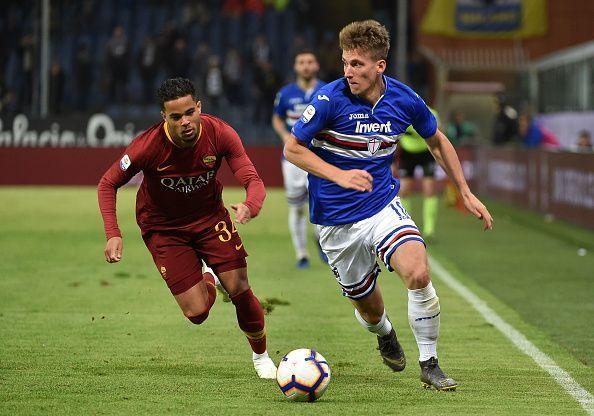 Praet in action for Sampdoria this season