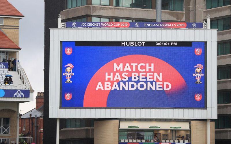 बारिश के कारण एक और मैच रद्द