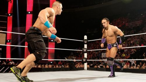 Cena and Neville clashed for the United States Championship on RAW in 2015.
