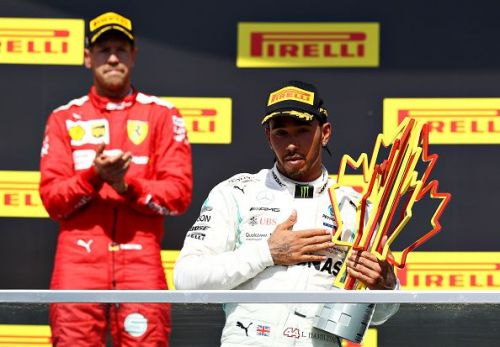 Lewis Hamilton was classified as the winner after Vettel's penalty was applied.