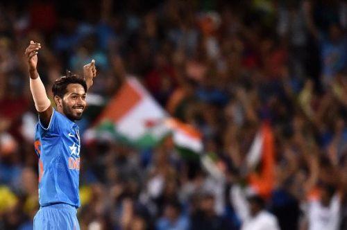 Hardik Pandya in his maiden T20 series against Australia in 2016