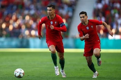 Cristiano Ronaldo in action for Portugal against the Netherlands in the UEFA Nations League Final