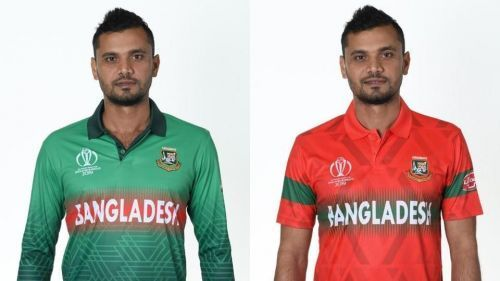Bangaladesh team home and away kit