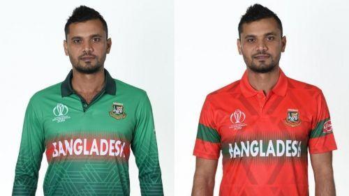 Bangaladesh team home and away kit