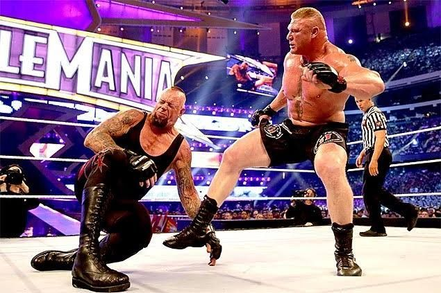 Brock Lesnar became the first to break