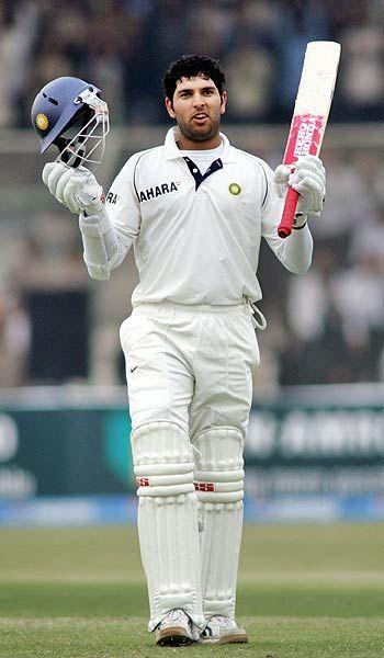 लाहौर में युवराज का पहला टेस्ट शतक