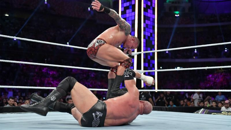 Orton and Triple H in action