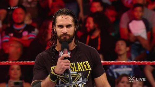 Brock Lesnar brutally attacked Rollins tonight.