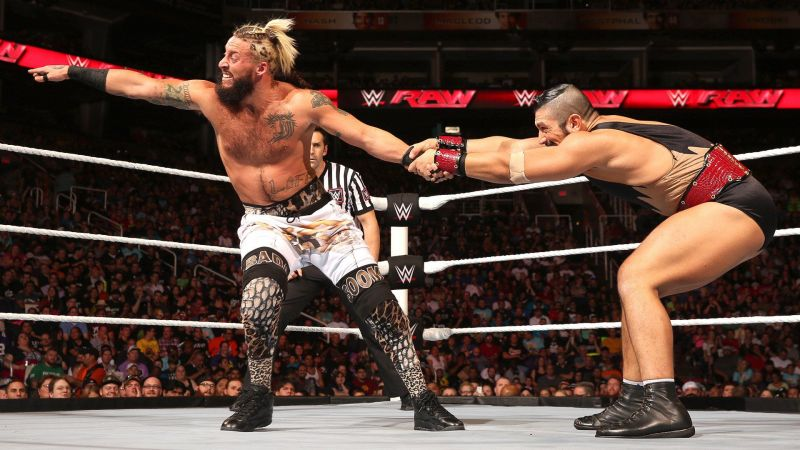 Gotch and Enzo competed in the WWE