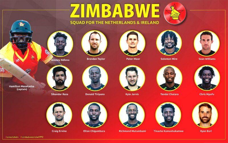 Zimbabwe Squad for the Netherlands tour (Courtesy - @ZimcriceTV)