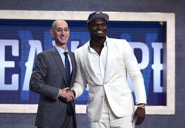 Zion Williamson was selected with the first overall pick by the New Orleans Pelicans