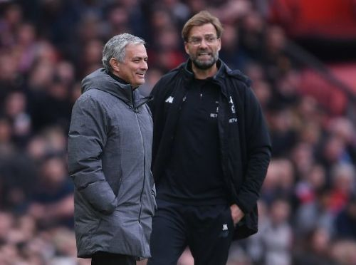 Jose Mourinho(left) and Jurgen Klopp(right)