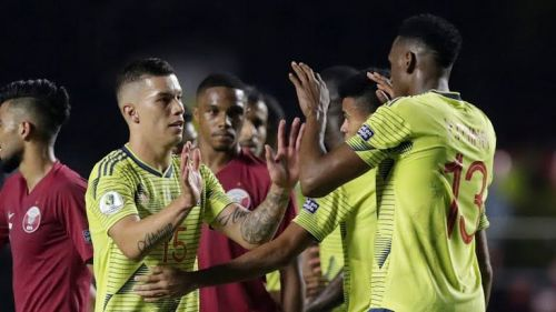 Colombia are the first side to progress to the last eight