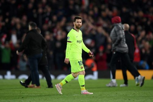 Messi exited the UEFA Champions League Semi Final in disappointing circumstances