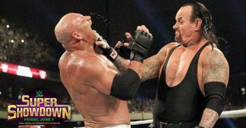 The Deadman will face Goldberg at WWE Super Showdown.