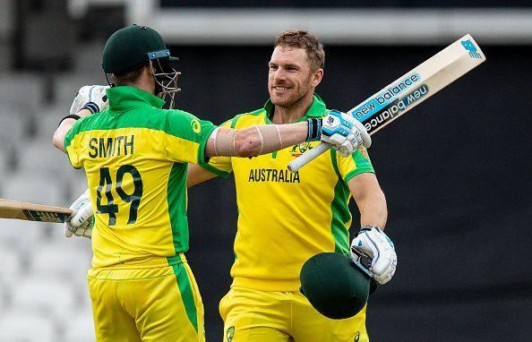 आरोन फिंच ने 153 रनों की शानदार पारी खेली