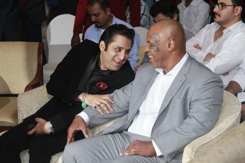 Mohamedali Budhwani and Mike Tyson