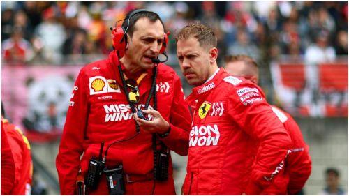 Ferrari star Sebastian Vettel (right)