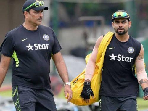 Ravi Shastri and Virat Kohli, (Pic Courtesy: BCCI/Twitter)