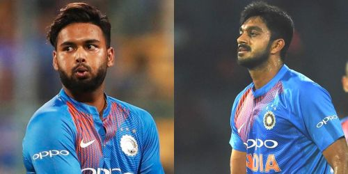Who will play the next game - Rishabh Pant (left) or Vijat Shankar (right)?