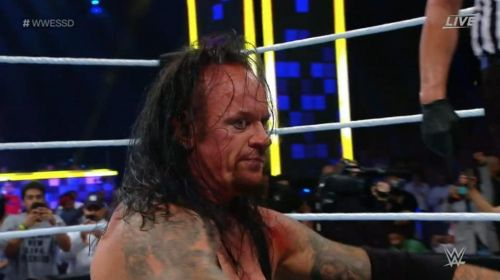 The Undertaker's face after pinning Goldberg said it all