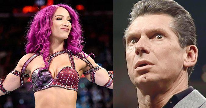 Sasha Banks and Vince
