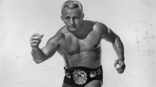 The first man to use the Nature Boy gimmick, Buddy Rogers.