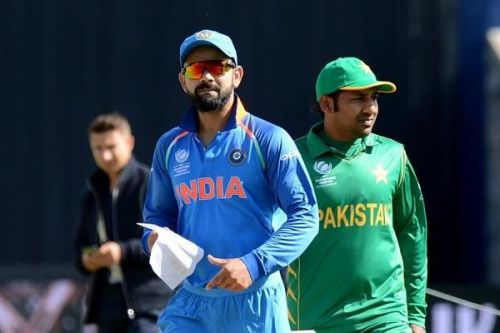 Virat Kohli and Sarfaraz Ahmed
