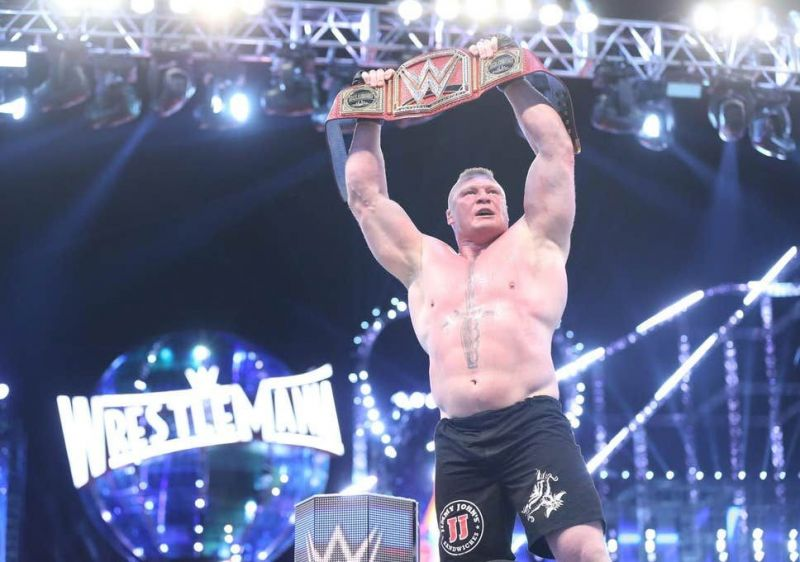 Could Lesnar cash-in during the main event of WrestleMania 36?