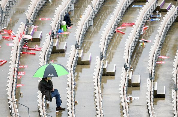 South Africa v West Indies - Stands lie empty as the rain gods have their way