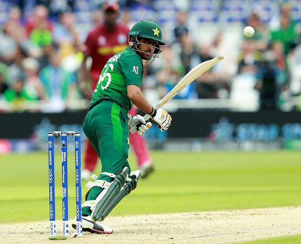 Babar Azam in action for Pakistan