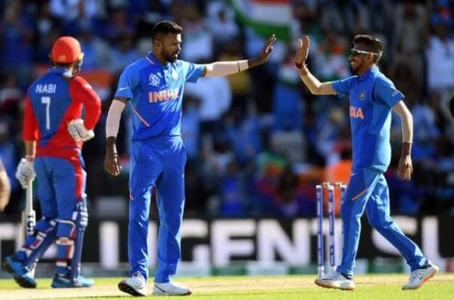 Chahal and Pandya picked up two wickets apiece