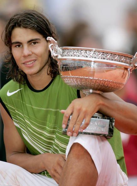 Nadal won the 1st of his 11 French Open titles in 2005