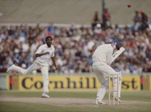 Michael Holding lets fly.