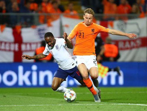 Frenkie de Jong displayed excellent composure on the ball