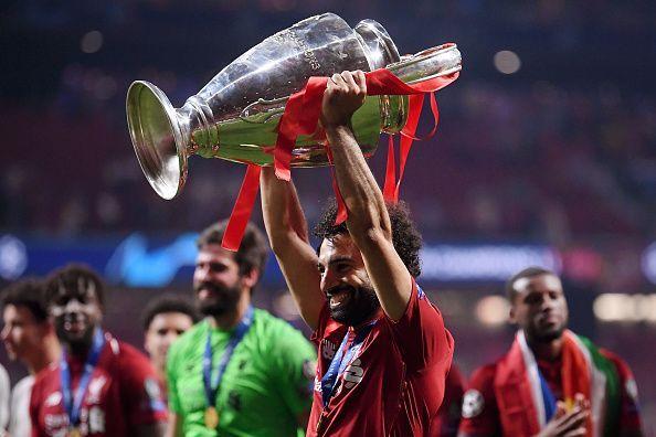 Image result for mohamed salah champions league trophy