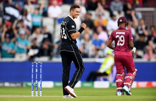 Trent Boult wreaked havoc as the West Indies' run chase was on the rocks, at the start of their innings