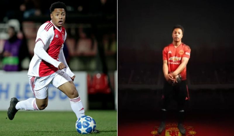 Dillon in action for Ajax (left) and posing in his new colours on the right (Picture source: Fox Sports Asia)