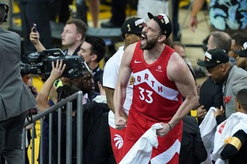 Marc Gasol made an immediate impact during his time with the Toronto Raptors