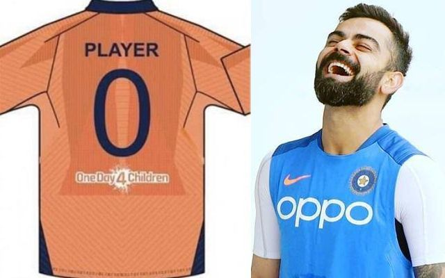 Expected orange jersey of India against England. Source- CricTracker.com